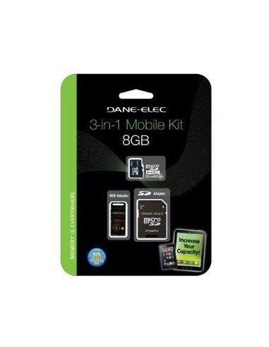 DANEELEC Carte Micro SD CL10 3IN 1 8GB