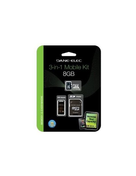 DANEELEC Carte Micro SD CL10 3IN 1 8GB (DA-3IN1C1008G-R)