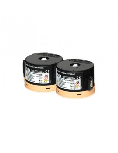 EPSON Pack 2 Toners Noir 2*2500P (C13S050710)