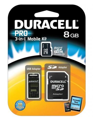 Duracell 8GB MicroSDHC 8Go MicroSDHC Classe 10 mémoire flash