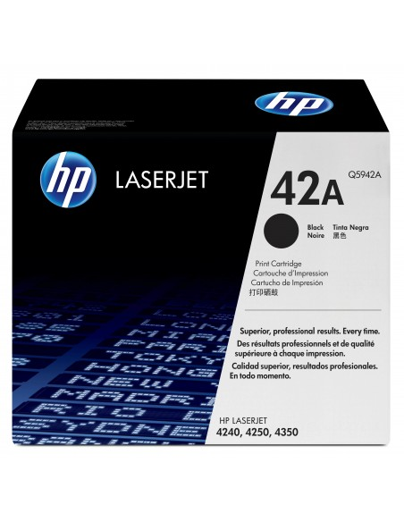 HP 42A toner LaserJet noir authentique