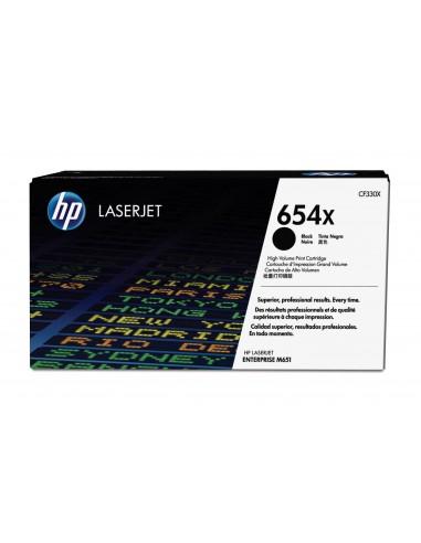 HP Cartouche de toner noir authentique grande capacité LaserJet 654X