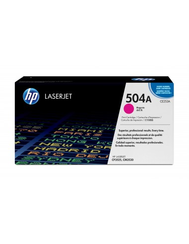HP 504A toner LaserJet magenta authentique