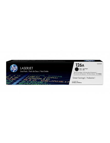 HP 126A pack de 2 toners LaserJet noir authentiques