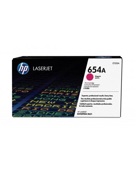 HP Cartouche de toner magenta authentique LaserJet 654A