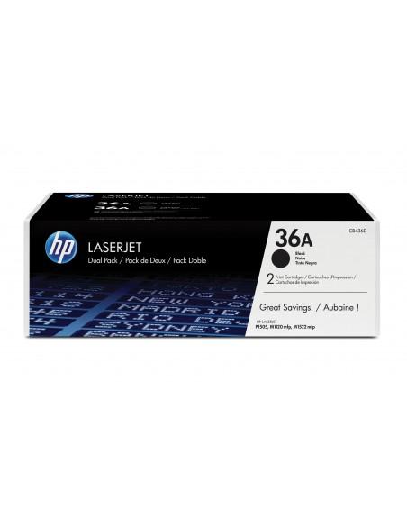 HP 36A pack de 2 toners LaserJet noir authentiques