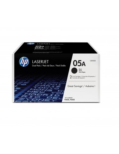 HP Pack de 2 toners noirs authentiques 05A LaserJet