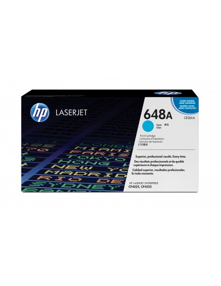 HP 648A toner LaserJet cyan authentique