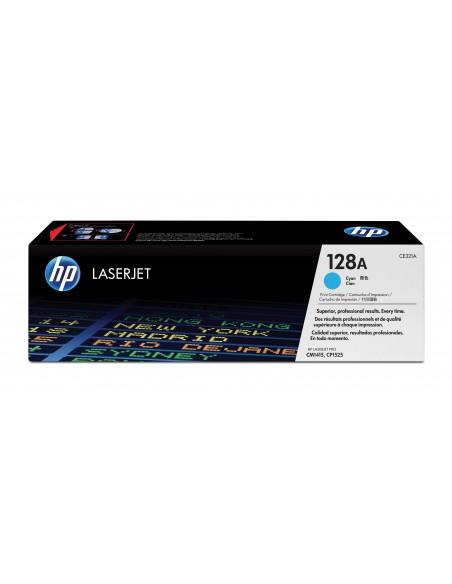 HP 128A toner LaserJet cyan authentique