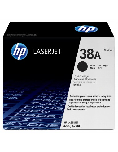 HP 38A toner LaserJet noir authentique