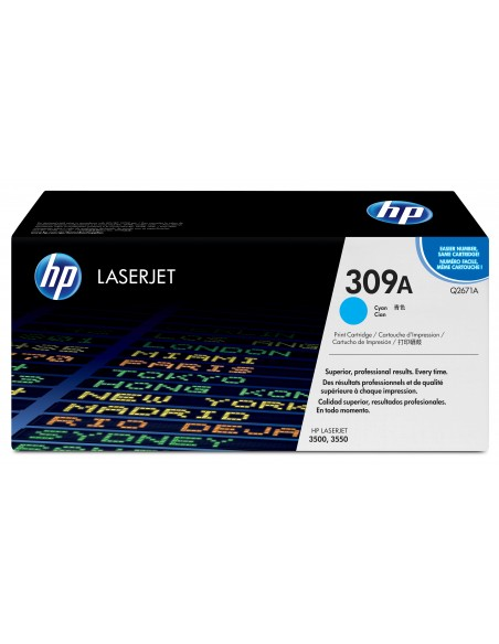 HP 309A toner LaserJet cyan authentique