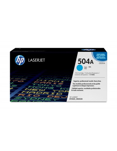 HP 504A toner LaserJet cyan authentique