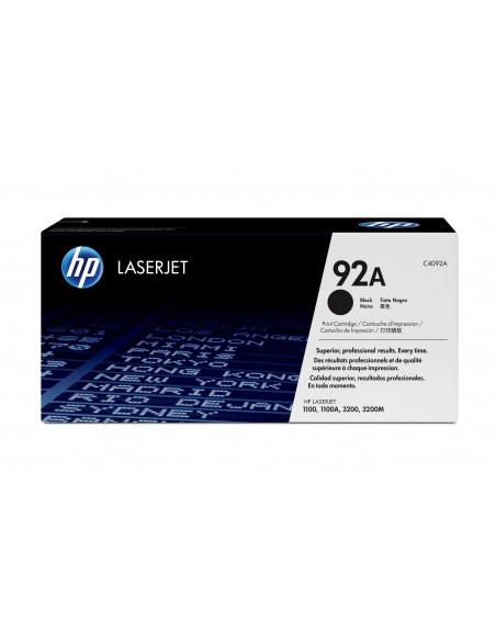 HP 92A toner LaserJet noir authentique