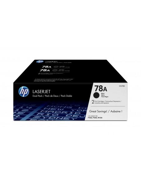 HP 78A pack de 2 toners LaserJet noir authentiques
