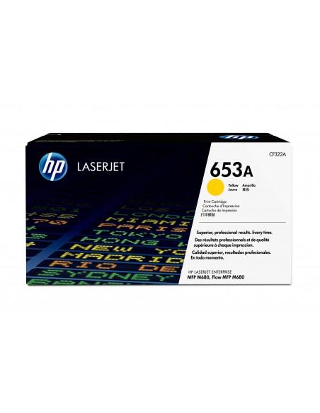 HP Cartouche de toner jaune originale LaserJet 653A