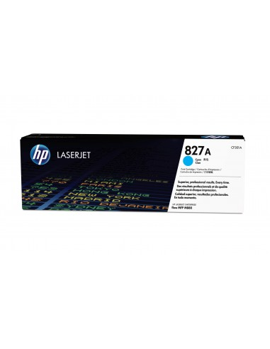 HP 827A toner LaserJet cyan authentique