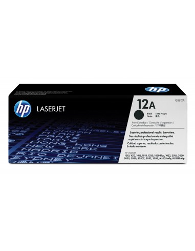 HP 12A toner LaserJet noir authentique