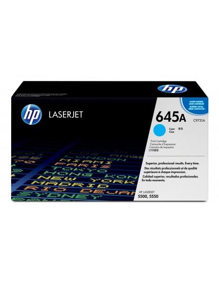 HP 645A toner LaserJet cyan authentique