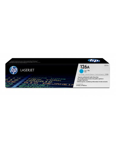 HP 126A toner LaserJet cyan authentique
