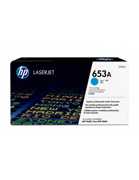 HP Cartouche de toner cyan originale LaserJet 653A