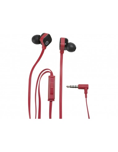 HP H2310 écouteur Binaural Avec fil Noir, Rouge casque et micro