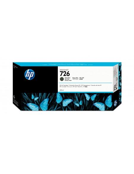 HP 726 cartouche d'encre DesignJet noir mat, 300 ml