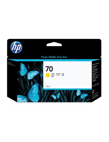 HP 70 cartouche d'encre DesignJet jaune, 130 ml