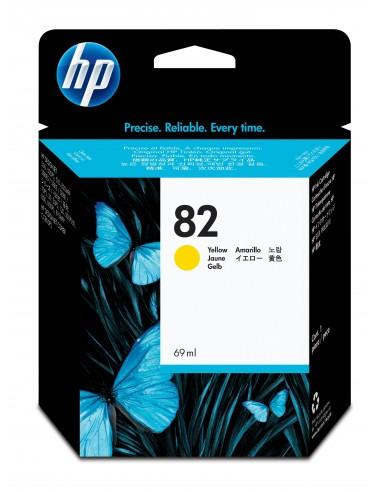 HP DesignJet 82 cartouche d'encre jaune, 69 ml
