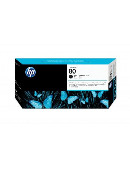 HP 80 tête d'impression noir et dispositif de nettoyage de tête d'impression DesignJet