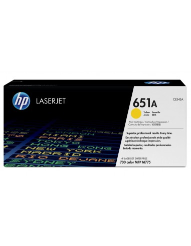 HP 651A toner LaserJet jaune authentique