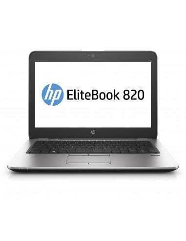 """HP EliteBook 820 G4 2.7GHz i7-7500U 12.5"""" 1920 x 1080pixels Noir, Argent Ordinateur portable"""