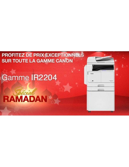 Promo Canon Copieur IR2204 Laser Mono A3 RectoVers (DS3331)