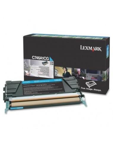 Lexmark C746A1CG Cartouche 7000pages Cyan cartouche toner et laser
