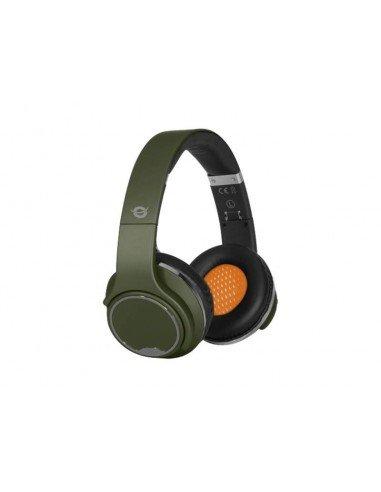 Conceptronic CHSPBTSPK Bandeau Binaural Câblé Bluetooth Vert casque et micro