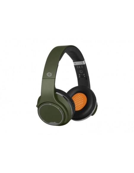 Conceptronic CHSPBTSPK Bandeau Binaural Câblé/Bluetooth Vert casque et micro