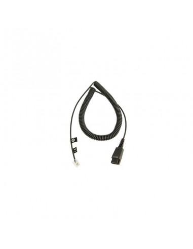 Jabra QD cord, coiled, mod plug QD RJ9 Noir adaptateur et connecteur de câbles