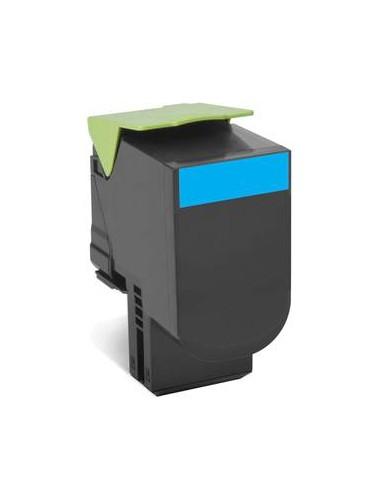 Lexmark 70C80C0 1000pages Cyan cartouche toner et laser