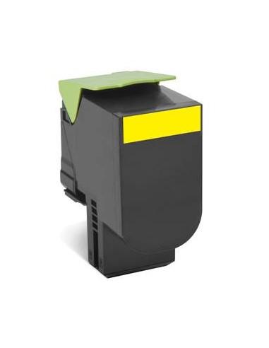 Lexmark 70C80Y0 1000pages Jaune cartouche toner et laser