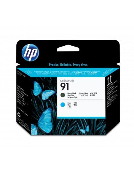 HP 91 tête d'impression DesignJet noir mat et cyan