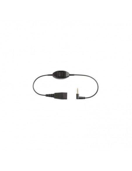 Jabra Cord for Alcatel, 500mm + 3.5m 3.5m Noir câble de téléphone