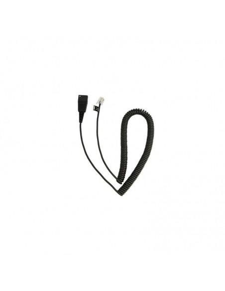 Jabra QD Cord, Coiled, Mod. Plug 2m câble de téléphone
