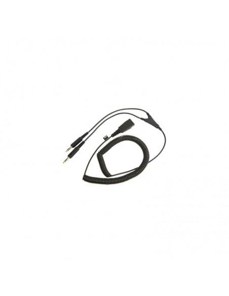 Jabra PC cord - QD to 2x3.5mm QD 2 x 3.5mm jack Noir adaptateur et connecteur de câbles