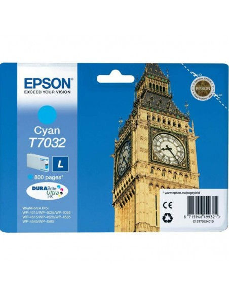 Epson Cartouche cyan L 800 Pages WF 4015DN/4025/4525DNF (C13T70324010)
