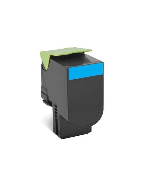 Lexmark 80C80C0 1000pages Cyan cartouche toner et laser