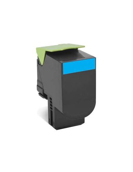 Lexmark 80C8XC0 4000pages Cyan cartouche toner et laser