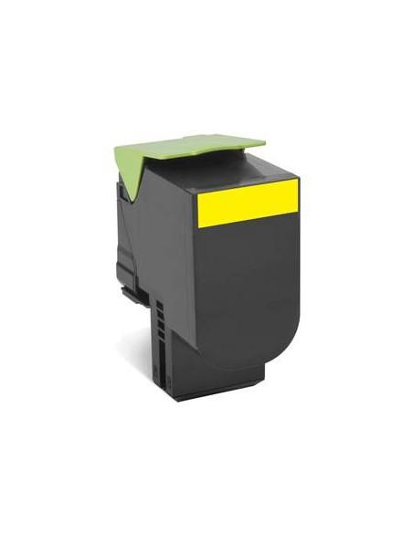 Lexmark 80C8XY0 4000pages Jaune cartouche toner et laser