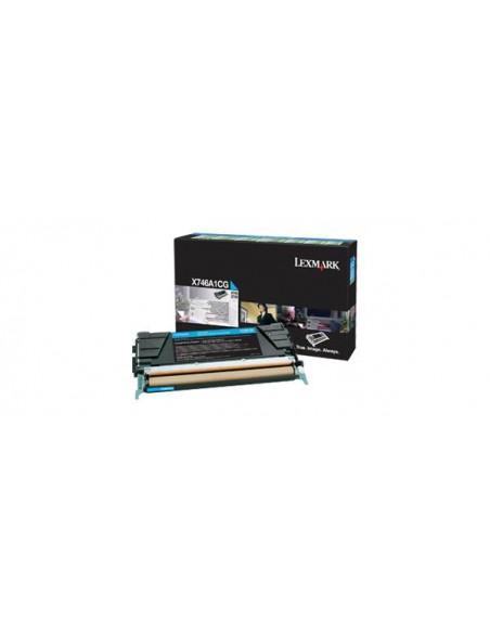 Lexmark X746A1CG Toner laser 7000pages Cyan cartouche toner et laser