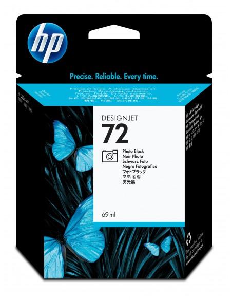 HP 72 cartouche d'encre DesignJet noir photo, 69 ml
