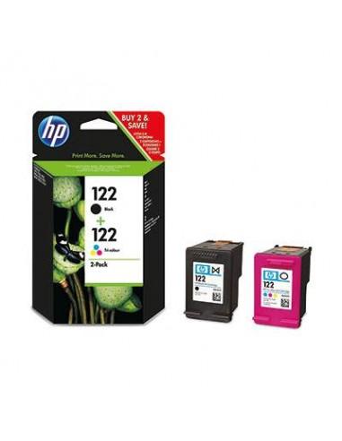 HP 122 Combo-pack Black Tri-color Noir, Jaune cartouche d'encre