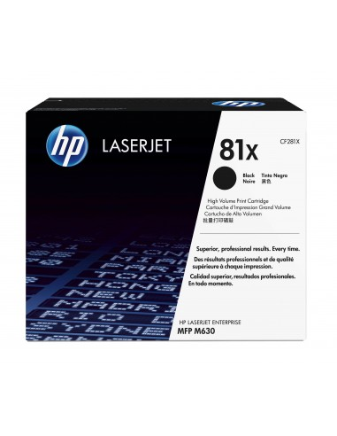 HP 81X toner LaserJet noir authentique grande capacité